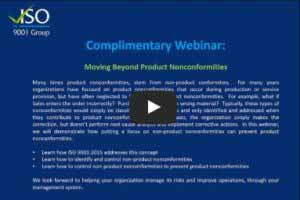 Moving Beyond Product Nonconformities - Watch to learn more
