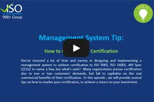 Management System Tip - How to Market Your Certification