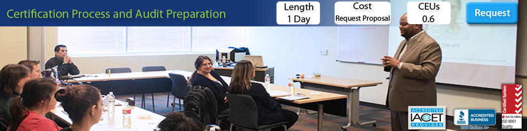 Certification Process and Audit Preparation Training Course