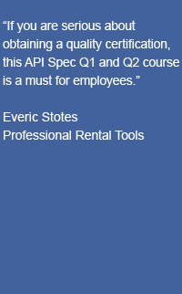 Training-Testimonial-API-Spec-Q1-Q2-QMS-Fundamentals-2-Professional-Rental-Tools